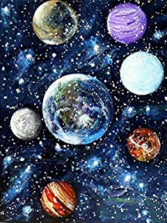 H/H Abstrait Planète Paysage Art Peinture Affiche Famille Décoration Peinture Mode Bar Café Toile Art Peinture À l'huile s...