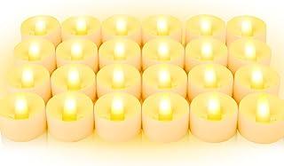 LED Teelichter 24-Stück, BAONUOR Elektrische Teelichter | flackernde flammenlose Kerzen..