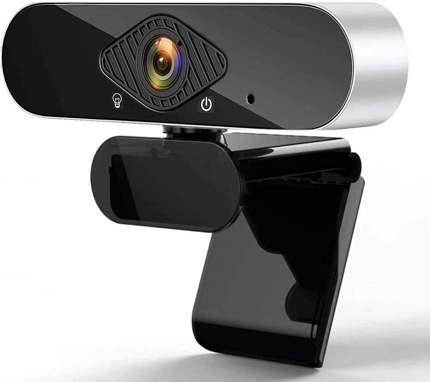 Full HD Webcam with Microphone - 1080P Desktop Computer Webcam, USB Webcam Plug and Play 120-degree Wide Angle, Streaming Webcam with Tripod and Privacy Cover for Video Calling Recording Conferencing