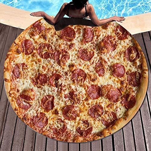 Wifehelper Confort 3D Pizza Imprimir Toalla de Playa Camping Picnic Estera Manta Yoga Alfombra...