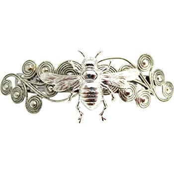 Great quality item. Art Nouveau Silver Honey Bee Brooch