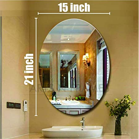 Creative Arts n Frames 15 x 21 inch Wall Mirror for Bathroom, Bedroom, Drawing Room and Wash Basin (Mirror, 15 x 21 inch) (Oval)