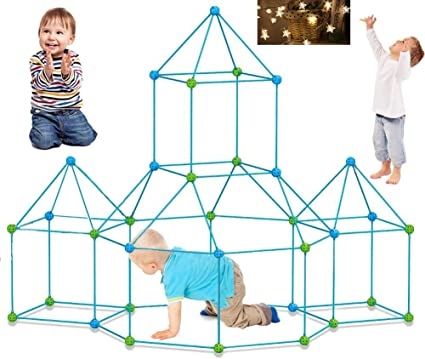 Details about  /DIY Kids Construction Fort Building Kit Forts Builder Castles Play House Toy