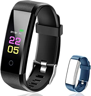 Fitness Tracker Waterproof - Fitness Watch with Heart...