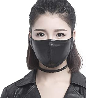 motorcycle face mask leather