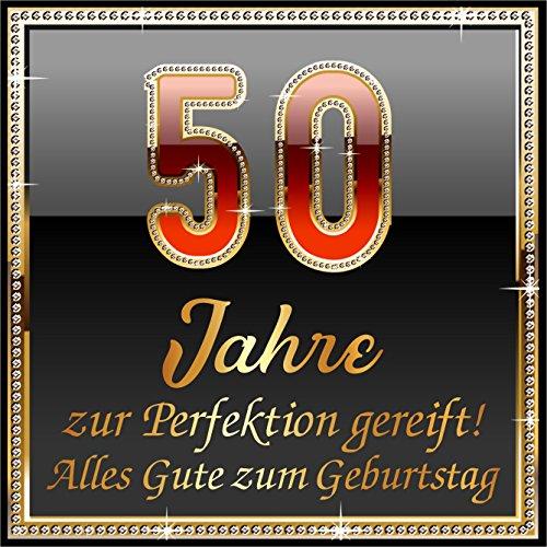 RAHMENLOS 5 St. Aufkleber Original Design: Selbstklebendes Flaschen-Etikett zum 50. Geburtstag: 50 Jahre zur Perfektion gereift!
