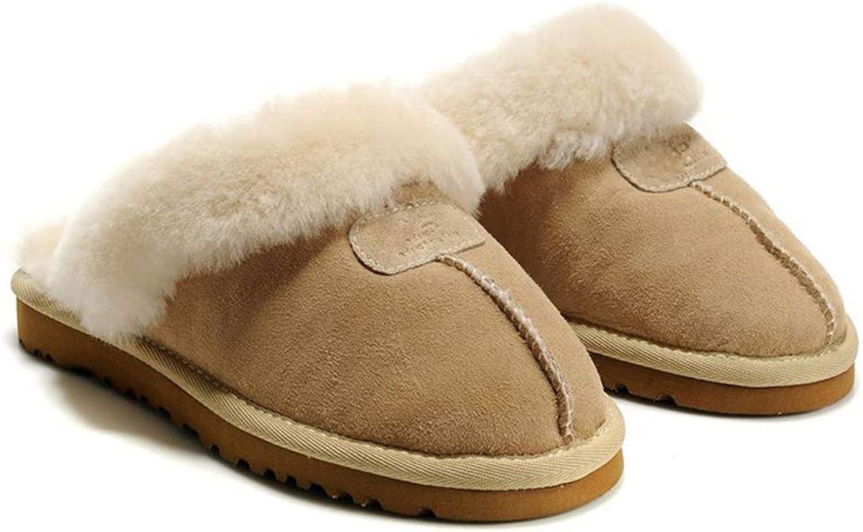 SED Casual Hausschuhe, Hausschuhe Unisex Faux Suede Furry Winter Winter Pelz gefüttert Slip on Damen un  erschwinglich