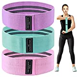 Booty Resistance Bands Non Slip Fitness Elastic Bands Fabric Workout Loop Belts Hip Thigh Straps Strength Squat Band for Girls Women Waist Belly Yoga Body Recovery