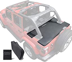 Shadeidea Jeep Wrangler Tonneau Cover JLU 4 Door Rear Trunk Cover Cargo Vinyl Cover for 2018+ JL Unlimited Tailgate Ton Cover-Black-3 Years Warranty