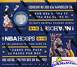 2015/2016 Panini Hoops NBA Basketball MASSIVE Factory Sealed 24 Pack Retail Box with 240 Cards & AUTOGRAPH Card! Look for Autographs of Kevin Durant, Kobe Bryant,Karl-Anthony Towns & More!WOWZZER!!