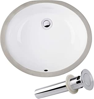 white porcelain undermount bathroom sink
