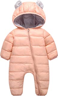 AceAcr Unisex Baby Hooded Winter Snowsuit Infant Warm Puffer Jumpsuit Romper Jacket