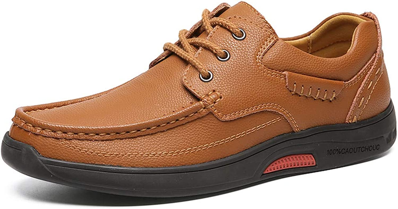 New Men's Fashion Sneaker Flat Heel Soft Genuine Leather Classic Design Oxfords