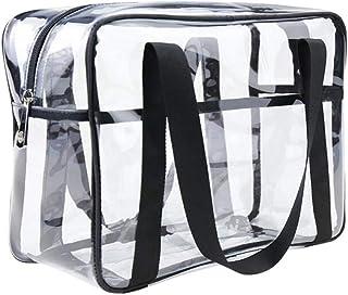ONEGenug Clear PVC Toiletry Bag Cosmetic Travel Case Waterproof Makeup Artist Large Bag Diaper Luggage Organizer Storage Easy Clean