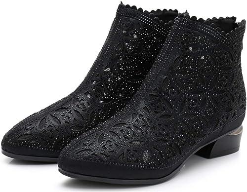 Para Botines Mujer Zapatos Moda De Malla De Sandalias Solo