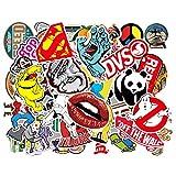 Etitulaire Graffiti Autocollant,50 Sticker Voiture en Vinyle pour Décor Ordinateur Portable Vélo Valise Skateboard et Guitare