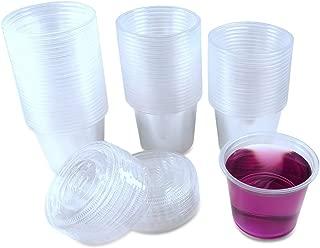 TashiBox 5.5oz-120 Sets Jello Shot Disposable Plastic Lids/Portion Souffle Cups, 5.5oz, Clear