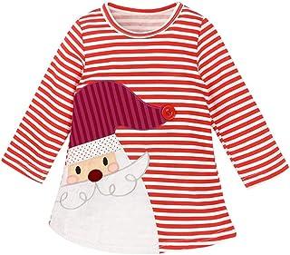Navidad bebé Vestido de una Pieza Manga Larga Navidad Infantil Trajes Traje de Navidad para bebé niño niña