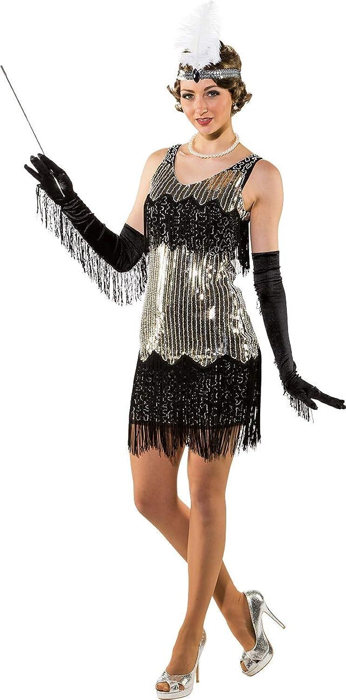 Damen-Kostüm im Stil der 20er-Jahre, glamours, mit Pailletten besetzt, Fransen, Swing, Tanz, Jazz