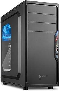 Sharkoon ATX/MicroATX対応ミドルタワーPCケース VS4-Wシリーズ ブラックカラー/アクリルウィンドウサイドパネル仕様 SHA-VS4-WBK