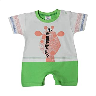 Papillon Crew-Neck Short Sleeves Giraffe-Print Bodysuit for Boys