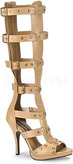 tan high heel gladiator sandals