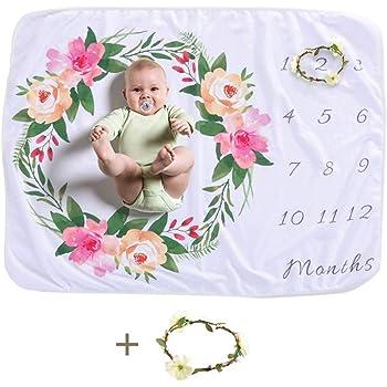 Neuf Mom Cadeau de Baby Shower Butterfly Couverture de photographie Personnalis/é,B/éb/é mensuel Milestone Couverture,Couvre-lit pour enfant et b/éb/é pour nouveau-n/é gar/çon et fille