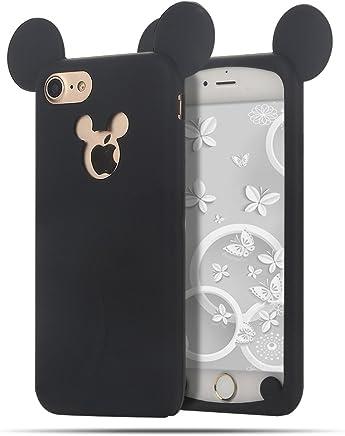 d486e38e53b iPhone 7 / 8 Funda , Moevn Carcasa TPU Suave Silicona para Apple iPhone 7 /  8 , Case Cover Orejas de Mickey Mouse Slim Anti Rasguño Protección Funda  para ...