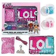 L.O.L. Surprise! Sequin Purse and Jewellery Making Kit for Girls Lol Dolls Confetti Pop Diva Rocker ...