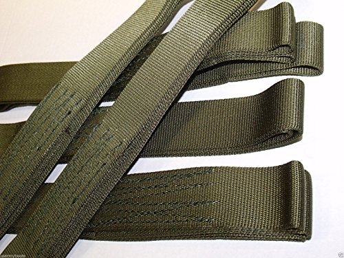 Price comparison product image NEW US Army Military Tactical 5' Offroad Vehicle Tow CARGO ATV Recovery STRAP SLING Choker 9000 lb Tensile Strength Webbing Tree Saver - OD Olive Drab Green Tie Down Security by TyCa Industries GI