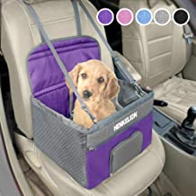 Henkelion Pet Dog Booster Seat, Deluxe Pet Booster Car Seat for Small Dogs Medium Dogs, Reinforce Metal Frame Construction...