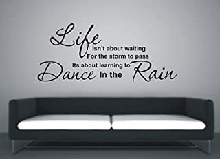 HomeDecorStore Wall Vinyl Decal Learn to Dance in The Rain Art Sticker Quote HDS7930