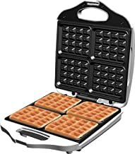 Rebune Electric 4 Slice Waffle Maker, White, RE-5-066