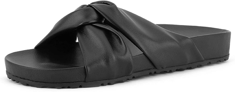 Women's Slip on Slides Sandals Open Toe House Bathroom Slippers