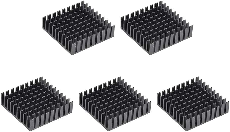 uxcell Seattle Mall 10x35x35mm Black Aluminum Heatsink C 4 years warranty Adhesive Pad Thermal
