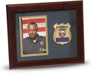 Allied Frame US Police Officer Medallion Portrait Picture Frame - 4 x 6 Picture Opening