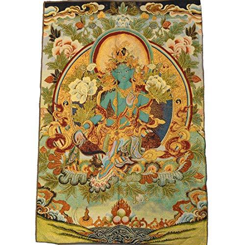 EUS Thangka Pintura Seda Buda Lienzo Arte Bordado Tibetano Patrón Santo Colgante...