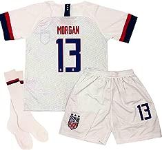 Duyonss-go New 13 Alex Morgan USA Home Kids Socce Jersey 2019-2020