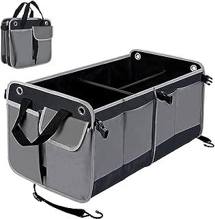 Car Boot Bag Amumuyx Car Trunk Organizer Borsa da Viaggio Pieghevole Impermeabile per Organizer da Viaggio con Cinturino di Sicurezza