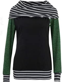 Cathalem Women Casual 1//2 Zip Sweatshirt Long Sleeve High Collar Pullover Tunic Top with Pocket