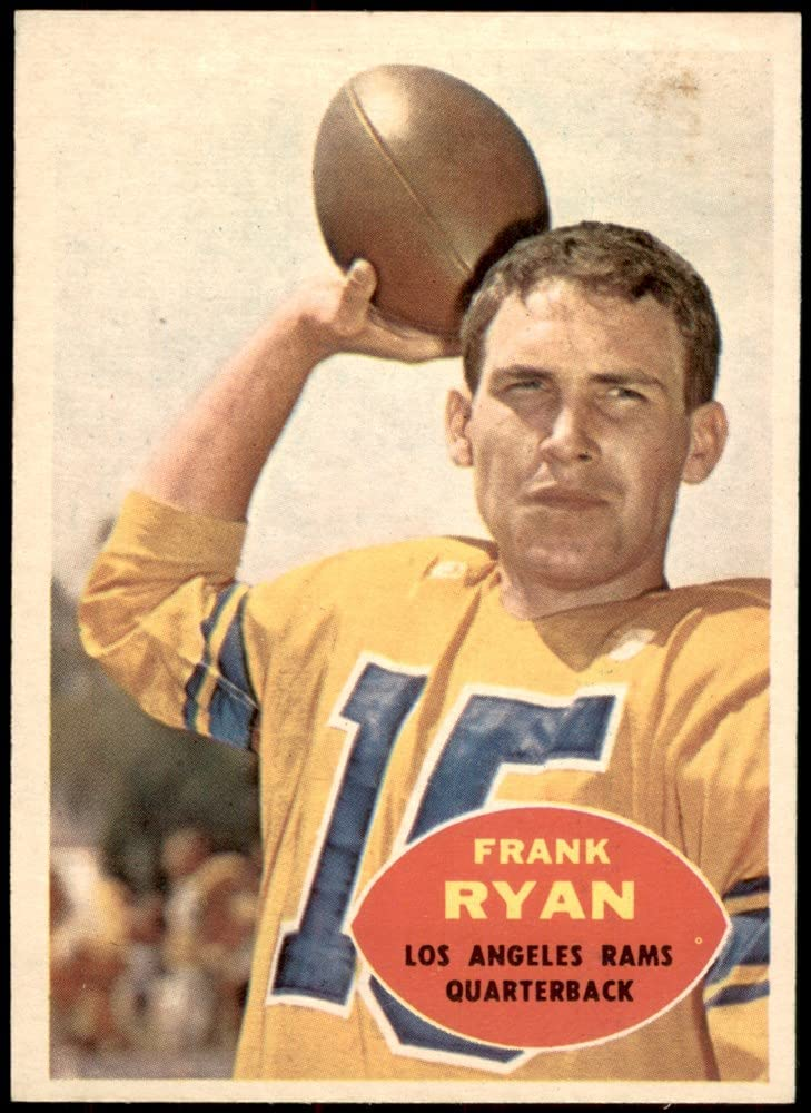 1960 Topps # 62 Selling and selling Frank Ryan Los Angeles Football R Card Ranking TOP13 Rams NM