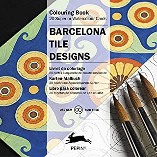 Barcelona Tile Designs (Colouring Cards) (English and German Edition)