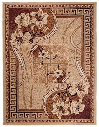 Carpeto Rugs Tapis Salon Beige 300 x 400 cm Classique Floral/Verona Collection
