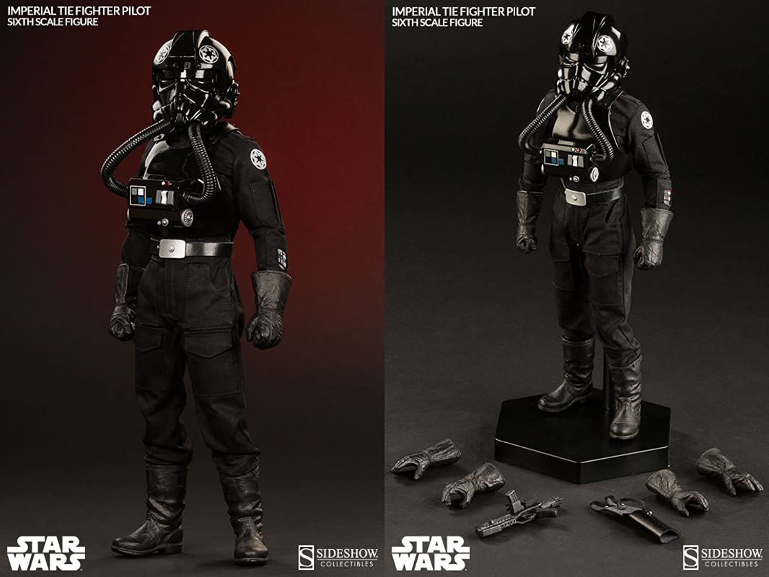 Sideshow Star Wars Episode IV A New Hope Imperial TIE Fighter Pilot 1 6 Scale Figure by Sideshow