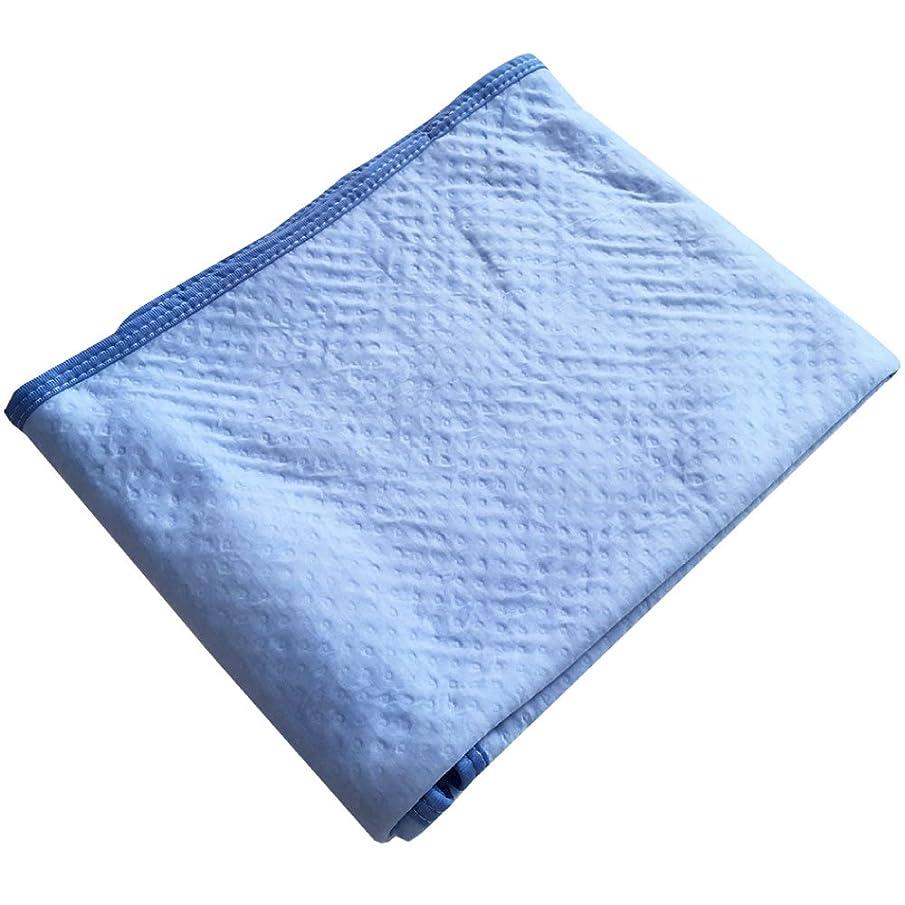 入植者宝まだらジャガード 3層 編み クール ケット ドット 柄 水色 シングルサイズ 140×190 接触冷感