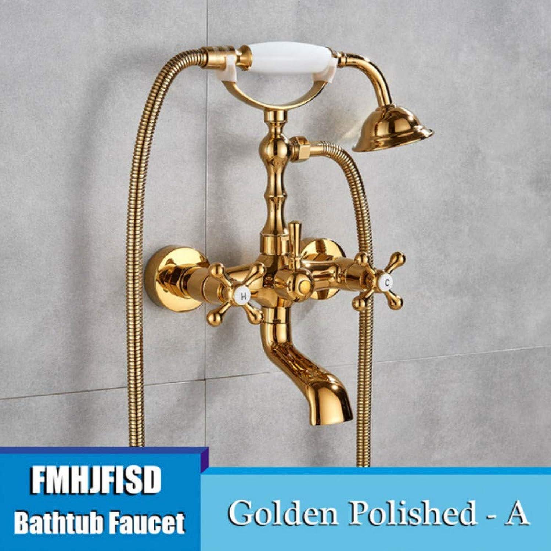 Lddpl Wasserhahn Telefon Form Badewanne Wasserhahn 2 Griff Wasserfall Auslauf und Handbrause verbreitet rmischen Bad Dusche Mischbatterie Wasser