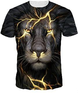 NAYINLAN Unisex Animal T Shirt Fashion