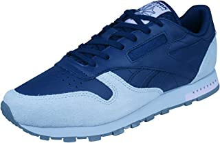 Reebok Classic Leather Womens Trainers/Shoes - Navy and Grey