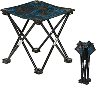 Folding Camping Stool, Portable Chair Seat with Carry Bag for Outdoor Fishing Sporting Hiking Beach Park Gardening Little Stools
