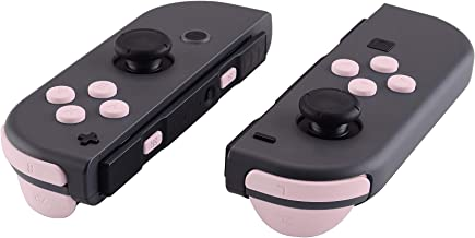 eXtremeRate Sakura Pink Replacement ABXY Direction Keys SR SL L R ZR ZL Trigger Buttons Springs, Full Set Buttons Repair Kits with Tools for Nintendo Switch Joy-Con JoyCon Shell NOT Included